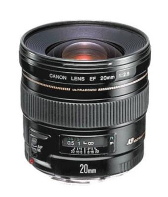 Объектив Canon EF 20 MM F2.8 USM 2509A010 объектив canon ef 24mm f 2 8 is usm черный