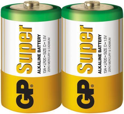 Батарейки GP Super Alkaline 13A LR20 D 2 шт