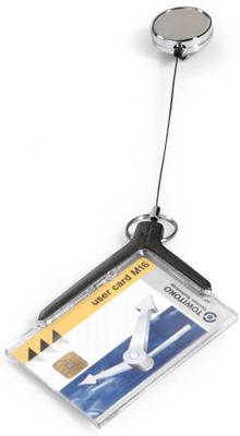 Держатель Durable для пропуска 54х85мм серый 10шт 8307-58