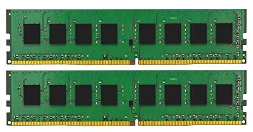 Оперативная память 16Gb (2x8Gb) PC4-17000 2133MHz DDR4 DIMM CL15 Kingston KVR21N15S8K2/16 оперативная память kingston kvr24r17s4 16