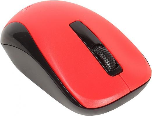 Мышь беспроводная Genius NX-7005 красный чёрный USB + радиоканал мышь genius netscroll 120 v2 optical usb black