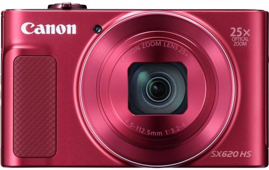 Фотоаппарат Canon PowerShot SX620 HS 20Mp 25xZoom красный 1073C002 цифровой фотоаппарат canon sx620 hs powershot red