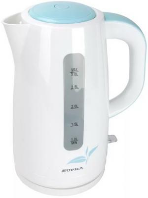 Чайник Supra KES-3013 2200 Вт белый голубой 3 л пластик