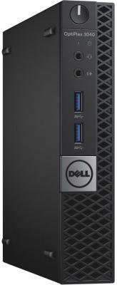 Компьютер DELL Optiplex 3040 Micro Intel Core i3-6100T 4Gb SSD 128 Intel HD Graphics 530 Windows 7 Professional + Windows 10 Professional черный серебристый 3040-8896