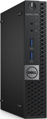 Компьютер DELL OptiPlex 7040 Micro Intel Core i5-6500T 4Gb 500Gb Intel HD Graphics 530 Windows 7 Professional + Windows 10 Professional черный 7040-0101