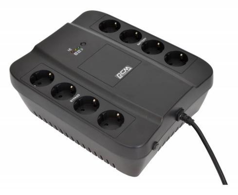 Источник бесперебойного питания Powercom Spider SPD-650N 650VA Черный источник бесперебойного питания powercom spider spd 850e 510вт 850ва черный