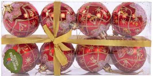 Набор шаров Новогодняя сказка 6 см 8 шт красный 972354