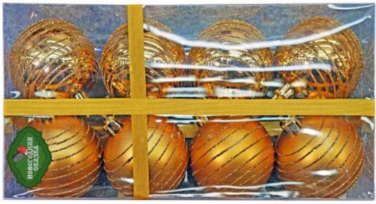 Набор шаров Новогодняя сказка 6 см 8 шт золото 972362