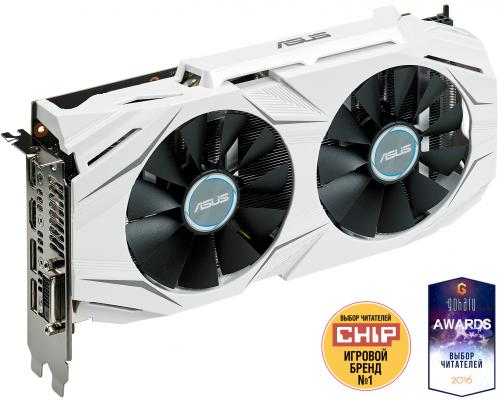 Видеокарта 8192Mb ASUS GeForce GTX1070 PCI-E DUAL-GTX1070-8G Retail видеокарта 6144mb msi geforce gtx 1060 gaming x 6g pci e 192bit gddr5 dvi hdmi dp hdcp retail