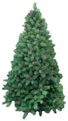 Ель Новогодняя сказка Венская с шишками зеленый 240 см 1882 ветки