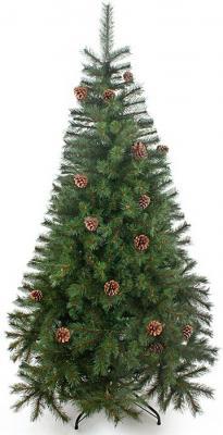 Ель Новогодняя сказка Венская с шишками зеленый 90 см 152210 ель новогодняя с украшением h 75см упаковочный пакет