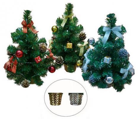 Ель Новогодняя сказка 97947 с украшениями зеленый 43 см ассортимент