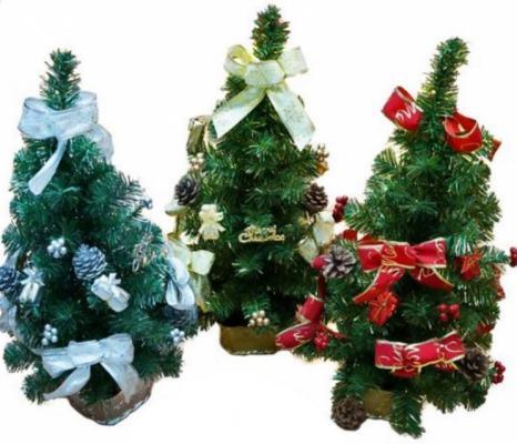 Ель Новогодняя сказка 97948 с украшениями зеленый 63 см в ассортименте