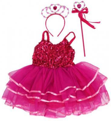 Карнавальный костюм Новогодняя сказка Дюймовочка, платье 50 см, ободок, палочка до 3 лет 972134