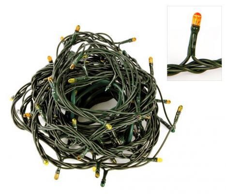 Гирлянда электрическая Новогодняя сказка 140 миниламп рис, желт.свечение, зел.провод, 8 реж.