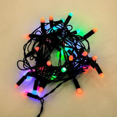 Гирлянда электрическая Новогодняя сказка Огоньки 40 LED, цветное свечение, черный провод