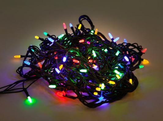 Гирлянда электрическая Новогодняя сказка 100 LED, цветное свечение, зеленый провод, 8 реж.971603 новогодняя волшебная сказка морозко 2019 01 03t15 00
