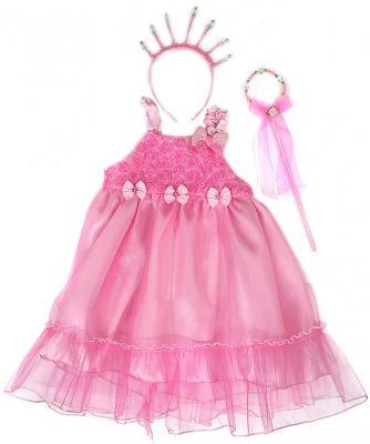 Карнавальный костюм Новогодняя сказка Принцесса (платье, ободок, палочка) 56 см от 3 лет 972133