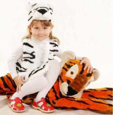 Карнавальный костюм Костюмы Тигр (головной убор, жилетка, юбка) от 3 лет К-040