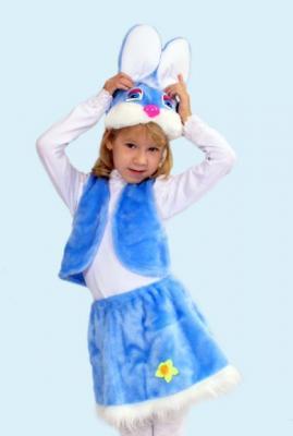 Карнавальный костюм Новогодняя сказка Заяц (головной убор, жилет, юбка) в асс-те