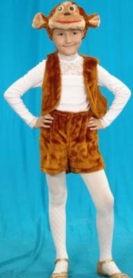 Карнавальный костюм Костюмы Обезьяна (головной убор, жилет, шорты) до 9 лет К-028 настольная игра hasbro дженга 2120e24a