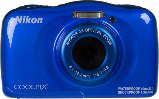 Фотоаппарат Nikon Coolpix W100 13.2Mp 3x Zoom синий