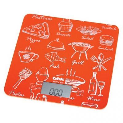 Весы кухонные BBK KS108G оранжевый наушники bbk ep 1200s вкладыши оранжевый проводные
