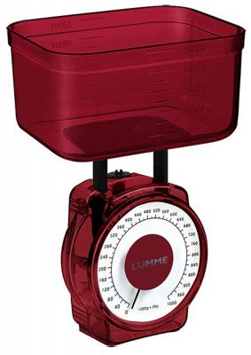 Весы кухонные Lumme LU-1301 красный гранат