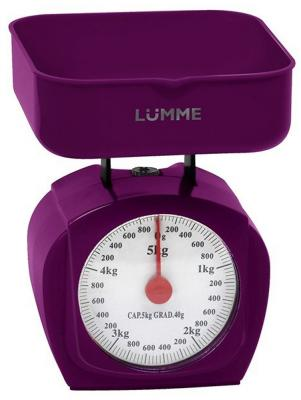 Весы кухонные Lumme LU-1302 фиолетовый чароит фен lumme lu 1043 1400вт фиолетовый чароит