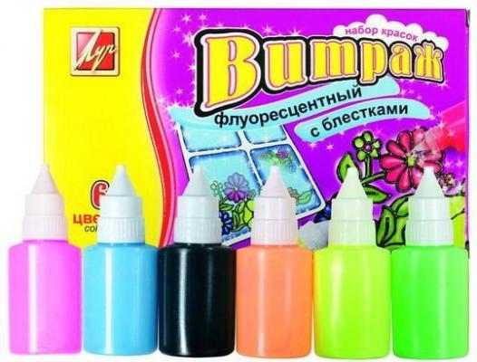 Купить Краски по стеклу Луч ВИТРАЖ 6 цветов 17С1160-08, ЛУЧ, Прочие краски