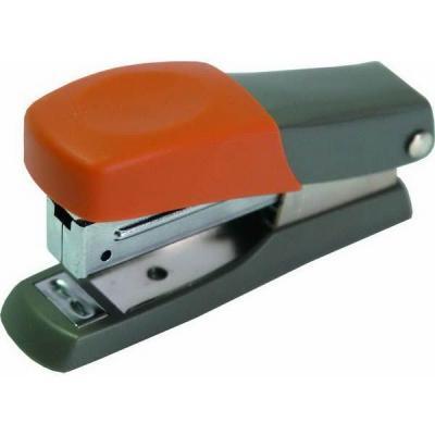Мини-степлер FUSION, скоба № 10, на 10 листов, серый/оранжевый антигравийная пленка nano fusion