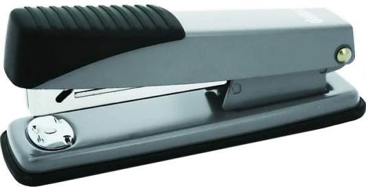 Степлер, скоба №24/6, на 20 листов, металлический корпус, серебристый степлер index ims310 gy 20 листов