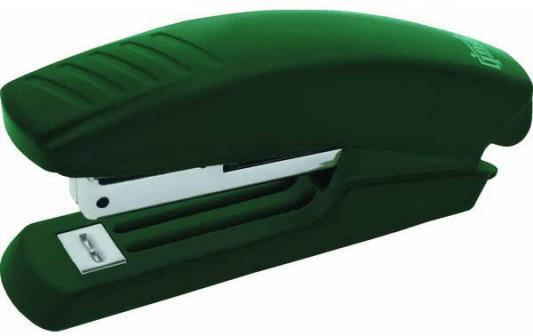 Степлер, скоба №10, на 10 листов, пластиковый корпус, зеленый