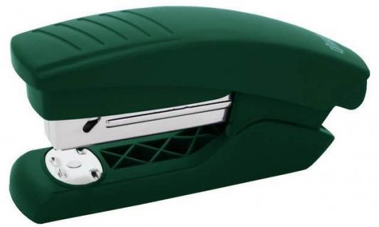 Степлер, скоба №24/6, на 15 листов, пластиковый корпус, зеленый