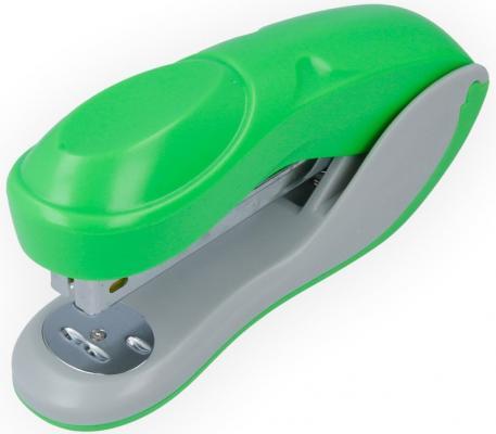 Степлер COLOURPLAY, скоба №24/6, на 20 листов, пластиковый корпус, неоновый зеленый дырокол index colourplay на 10 листов пластиковый корпус неоновый зелёный icp110 gn