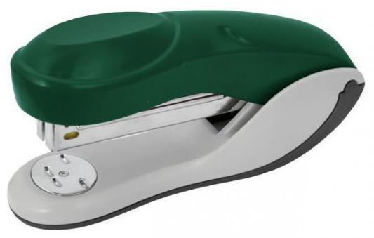 Степлер, скоба №24/6, на 20 листов, пластиковый корпус, зеленый
