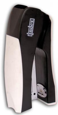 Cтеплер, скоба № 24/6, на 20 листов, пластиковый корпус, вертикальный, черн/бел
