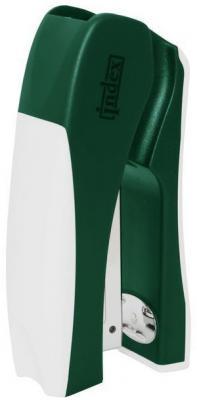 Cтеплер, скоба № 24/6, на 20 листов, пластиковый корпус, вертикальный, зелен/бел