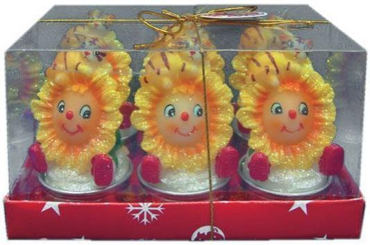 Набор свечей Winter Wings Тигренок с подсолнухом 9х6 см 6 шт N160934 набор свечей winter wings сувенирные свечи 6 шт 4 см n161419