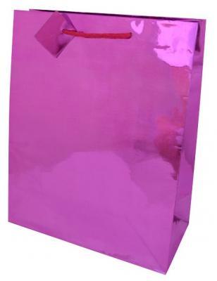 Пакет подарочный бумажный ламинированный голография. 6 цв. Размер: 260*324*127 мм. 1шт.