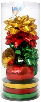 Набор для подарочной упаковки:бантики 3 шт.х9 см,лента 3 шт.х5 ммх20 м,лента 3 шт.х10 ммх20 м, ПВХ PW1026 da lite cosmopolitan electrol 3 4 305 120 175x234 vs м