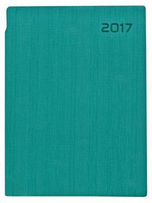 Ежедневник AGENT, датиров, 2017,ф. А5, кожзам, лин, ляссе, 336с, синий