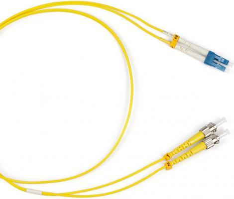 Патч-корд Hyperline FC-9-ST-LC-UPC-5M волоконно-оптический шнур 5м цена в Москве и Питере