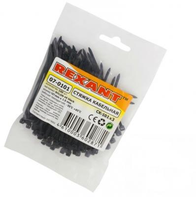 Хомуты Rexant 07-0101 2.5х100мм 100шт черный стяжки rexant 07 0100 2 5х100мм 100шт белый