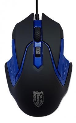 Мышь проводная Jet.A ComfortOM-U57 чёрный синий USB