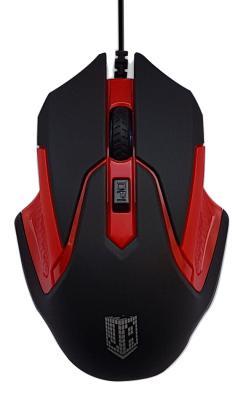 Мышь проводная Jet.A ComfortOM-U57 чёрный красный USB