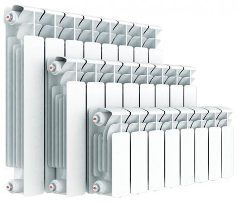 Биметаллический радиатор RIFAR (Рифар) B  350 НП  4 сек. прав. (Кол-во секций: 4; Мощность, Вт: 544; Подключение: правое)  радиатор rifar base b 350 11