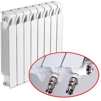 Биметаллический радиатор RIFAR Monolit Ventil 500 5 сек. прав. (Кол-во секций: 5; Мощность, Вт: 980; Подключение: правое) биметаллический радиатор rifar рифар b 500 нп 10 сек лев кол во секций 10 мощность вт 2040 подключение левое