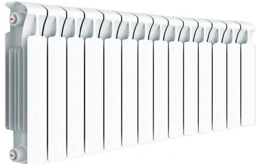 Биметаллический радиатор RIFAR Monolit Ventil  500 14 сек. лев. (Кол-во секций: 14; Мощность, Вт: 2744; Подключение: левое)  алюминиевый радиатор rifar alum ventil avr 500 14