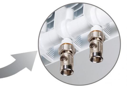 Биметаллический радиатор RIFAR Monolit Ventil 350 4 сек. лев. (Кол-во секций: 4; Мощность, Вт: 536; Подключение: левое)
